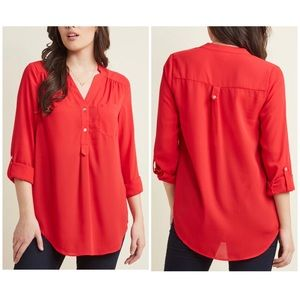 Fervour Pam Brreze-ly Rolled Sleeve Tunic Pop Over